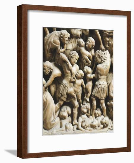 The Massacre of Innocents, Detail from Pergamon or Pulpit-Nicola Pisano-Framed Giclee Print