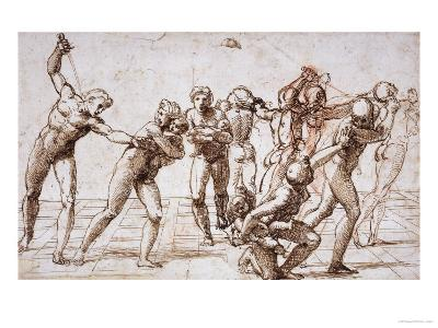 The Massacre of the Innocents, Around 1509-Raphael-Giclee Print