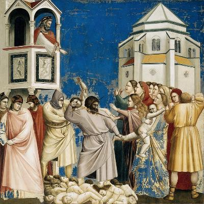 The Massacre of the Innocents, Detail from Life and Passion of Christ, 1303-1305-Giotto di Bondone-Giclee Print
