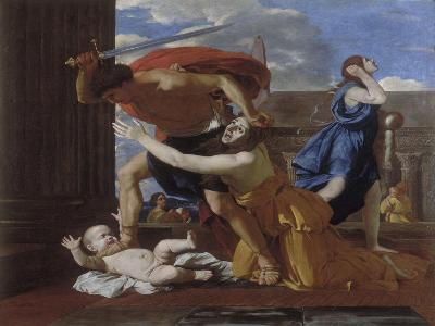 The Massacre of the Innocents-Nicolas Poussin-Giclee Print
