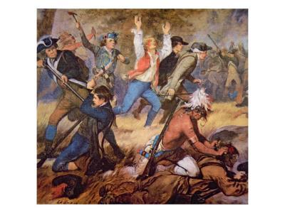 The Massacre of Wyoming Valley in July 1778-Alonzo Chappel-Giclee Print