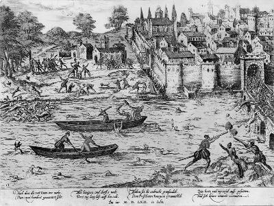 The Massacres of Tours, July 1562-Franz Hogenberg-Giclee Print