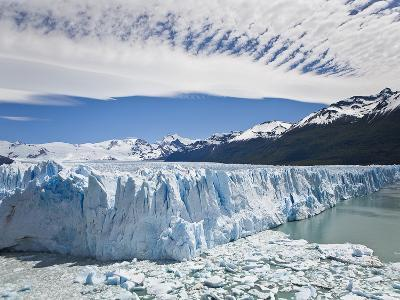 The Massive Perito Moreno Glacier Wall and Ice That Broke Off of It-Mike Theiss-Photographic Print