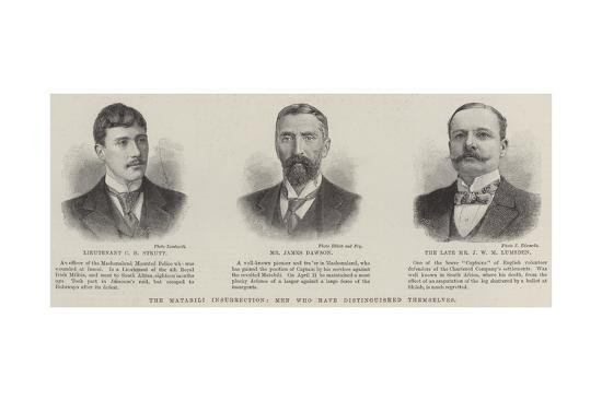 The Matabili Insurrection, Men Who Have Distinguished Themselves--Giclee Print
