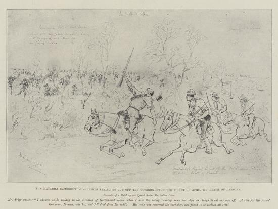 The Matabili Insurrection-Melton Prior-Giclee Print