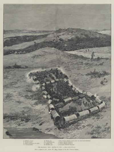 The Matabili War, Battle on 1 November, Near Buluwayo--Giclee Print