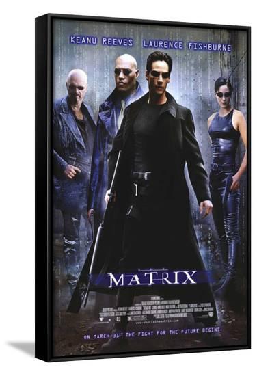The Matrix--Framed Canvas Print