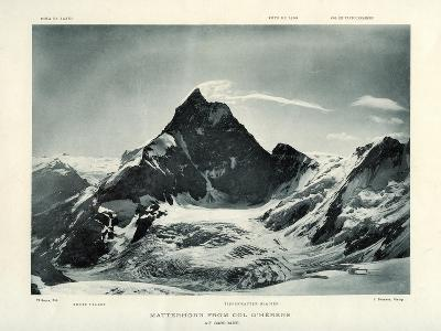 The Matterhorn from the Col D'Herens, Switzerland, C1900-J Brunner-Giclee Print