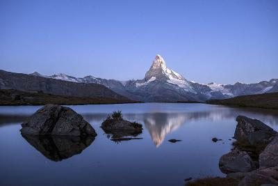 The Matterhorn Reflected in Stellisee at Sunrise-Roberto Moiola-Photographic Print
