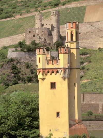 The Mauseturm, Former Customs House, Bingen, Pfalz, Rhineland, Germany-Walter Bibikow-Photographic Print