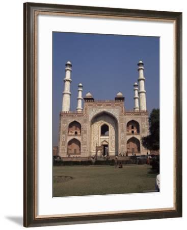 The Mausoleum of Akbar the Great, Sikandra, Agra, Uttar Pradesh, India-Robert Harding-Framed Photographic Print
