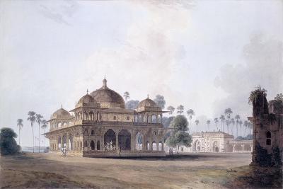 The Mausoleum of Makhdum Shah Daulat, Maner, Bihar, C.1788-1796 (Pencil, Pen and Grey Ink, W/C)-Thomas & William Daniell-Giclee Print