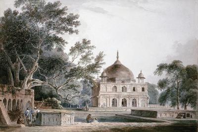 The Mausoleum of Prince Khusrau, Allahabad, Uttar Pradesh, (Pencil and W/C)-Thomas & William Daniell-Giclee Print