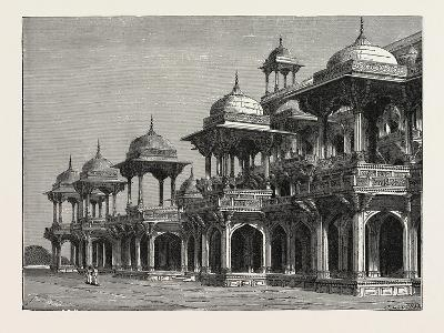 The Mausoleum of the Emperor Akbar, at Sikandra, a Suburb of Agra City--Giclee Print