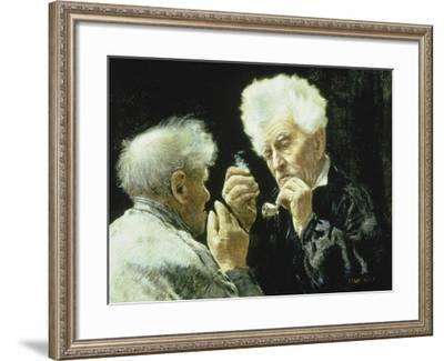 The Mayor and His Advisor-Jean François Raffaelli-Framed Giclee Print