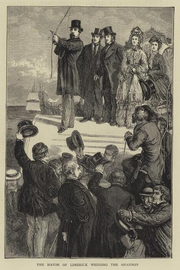 The Mayor of Limerick Wedding the Shannon-Francis S. Walker-Giclee Print
