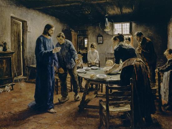 The Mealtime Prayer, 1885-Fritz von Uhde-Giclee Print