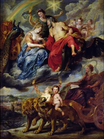 The Medici Cycle: Meeting of Henri IV-Peter Paul Rubens-Giclee Print