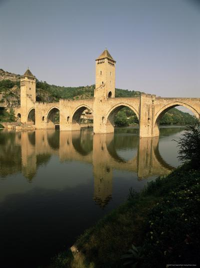 The Medieval Pont Valentre Over the River Lot, Cahors, Lot, Midi Pyrenees, France-David Hughes-Photographic Print