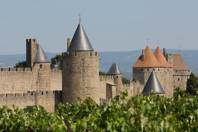 The Medieval Walled Town of Carcassonne, Languedoc-Roussillon, France, Europe-Martin Child-Photographic Print