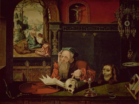 The Meditation of St. Jerome-Quentin Metsys-Giclee Print