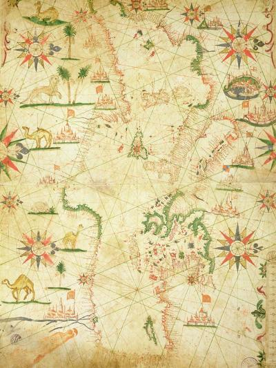 The Mediterranean Basin, from a Nautical Atlas, 1651--Giclee Print