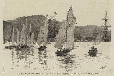The Mediterranean Fleet at Sigri, the Annual Regatta, Start for the Admiral's Cup-William Lionel Wyllie-Giclee Print