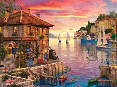 The Mediterranean Harbour-Dominic Davison-Art Print
