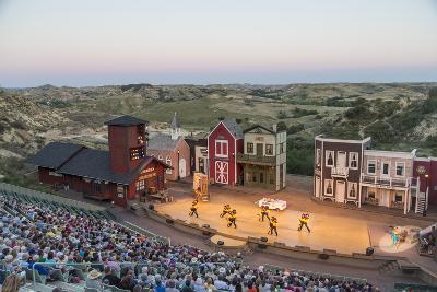 The Medora Musical Theatre in Medora, North Dakota, USA-Chuck Haney-Photographic Print