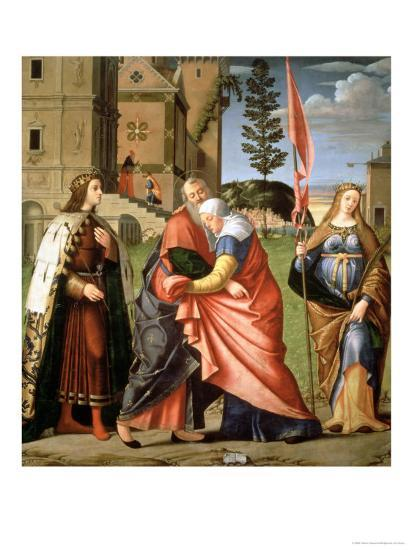 The Meeting at the Golden Gate with Saints, 1515-Vittore Carpaccio-Giclee Print