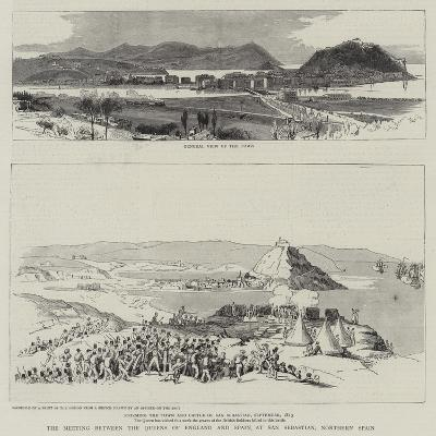 The Meeting Between the Queens of England and Spain at San Sebastian, Northern Spain--Giclee Print