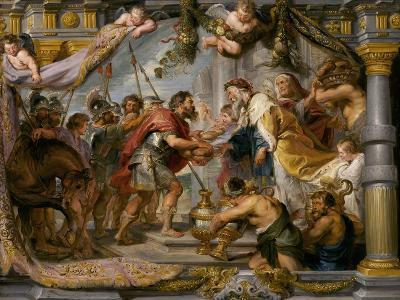 The Meeting of Abraham and Melchizedek, c.1626-Peter Paul Rubens-Giclee Print