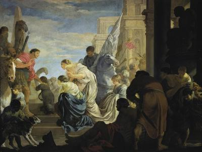 The Meeting of Anthony and Cleopatra, C. 1645-Sebastien Bourdon-Giclee Print