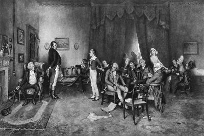 The Meeting of Burns and Scott, C1786--Giclee Print