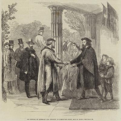 The Meeting of Garibaldi and Tennyson at Faringford House, Isle of Wight--Giclee Print