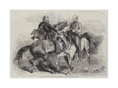 The Meeting of General Garibaldi and Victor Emmanuel on 26 October, Near Teano--Giclee Print