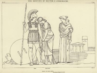 The Meeting of Hector and Andromache-John Flaxman-Giclee Print