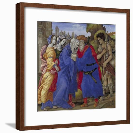 The Meeting of Joachim and Anne Outside the Golden Gate of Jerusalem, 1497-Filippino Lippi-Framed Giclee Print