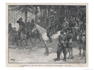 The Meeting of Lee and Grant at Appomattox Court-House Ending the War Between the States-H.m. Paget-Giclee Print