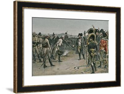 The Meeting of Napoleon and Mack--Framed Giclee Print