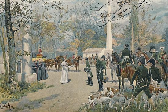 'The Meeting of Napoleon and Pius VII at Fontainebleau', 1813, (1896)-Unknown-Giclee Print