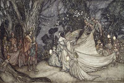 The Meeting of Oberon and Titania, 1908-Arthur Rackham-Giclee Print