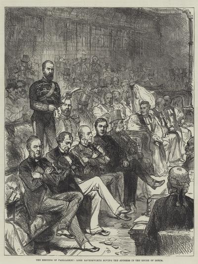 The Meeting of Parliament, Lord Ravensworth Moving the Address in the House of Lords-Charles Robinson-Giclee Print