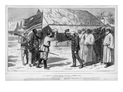 The Meeting of Stanley and Livingstone in Tanganyika, 1871--Giclee Print
