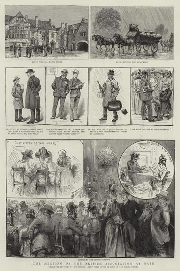 The Meeting of the British Association at Bath--Giclee Print