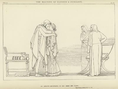The Meeting of Ulysses and Penelope-John Flaxman-Giclee Print
