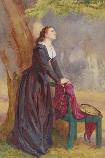 The Meeting Place - under the Tree-John Absolon-Giclee Print