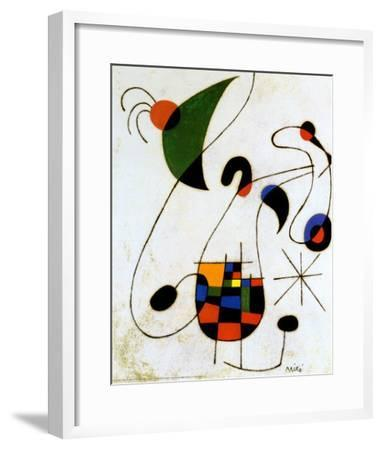 The Melancholic Singer-Joan Miro-Framed Art Print
