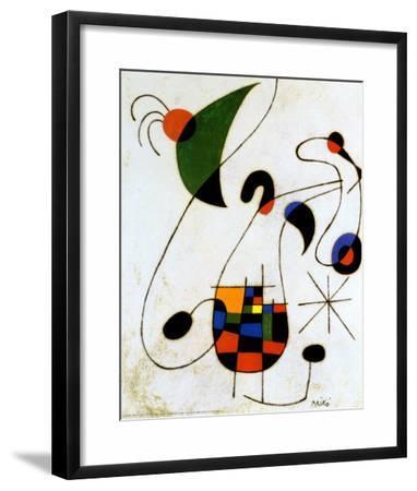 The Melancholic Singer-Joan Mir?-Framed Art Print