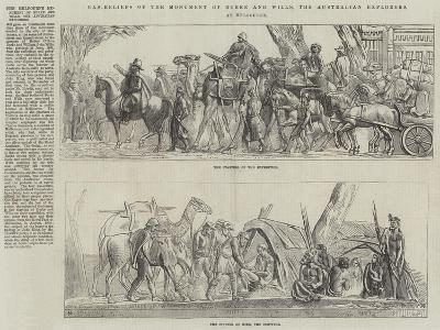 The Melbourne Monument of Burke and Wills, the Australian Explorers--Giclee Print